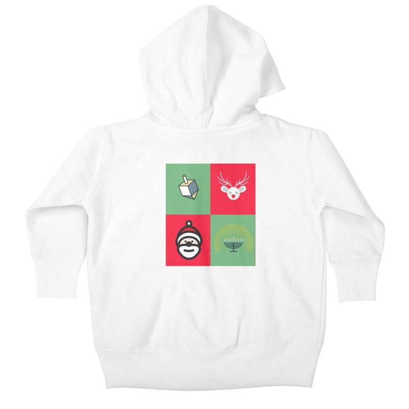 chrismukkah Kids Baby Zip-Up Hoody by chrismukkah's Artist Shop