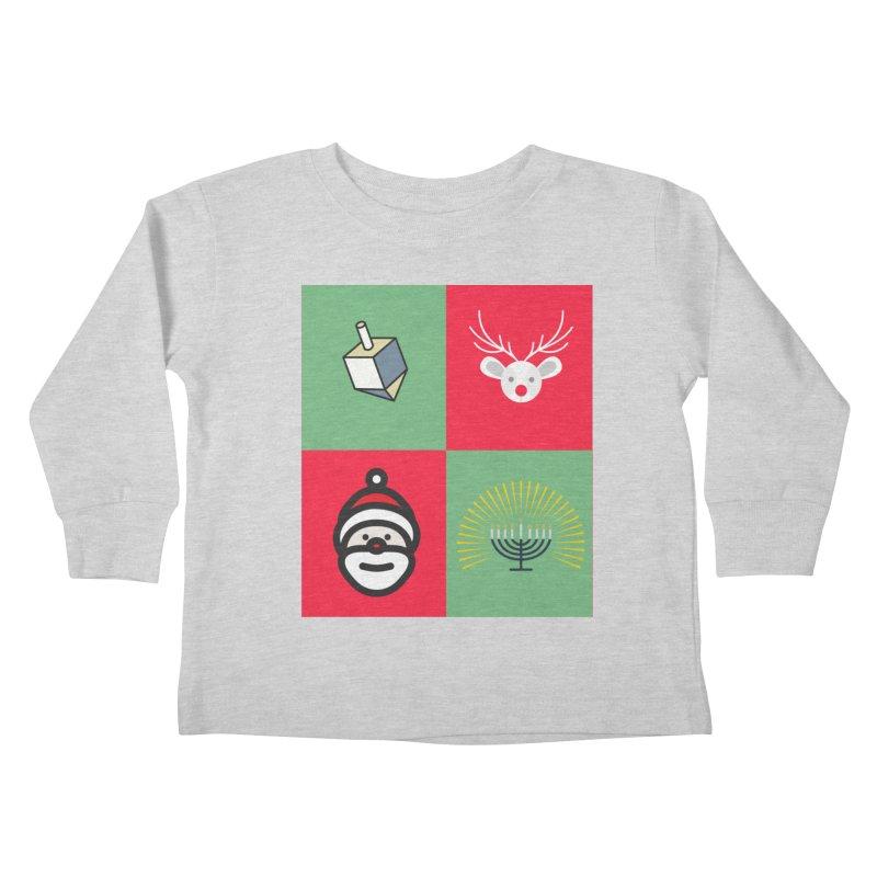 chrismukkah Kids Toddler Longsleeve T-Shirt by chrismukkah's Artist Shop