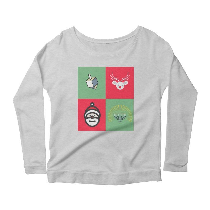 chrismukkah Women's Scoop Neck Longsleeve T-Shirt by chrismukkah's Artist Shop