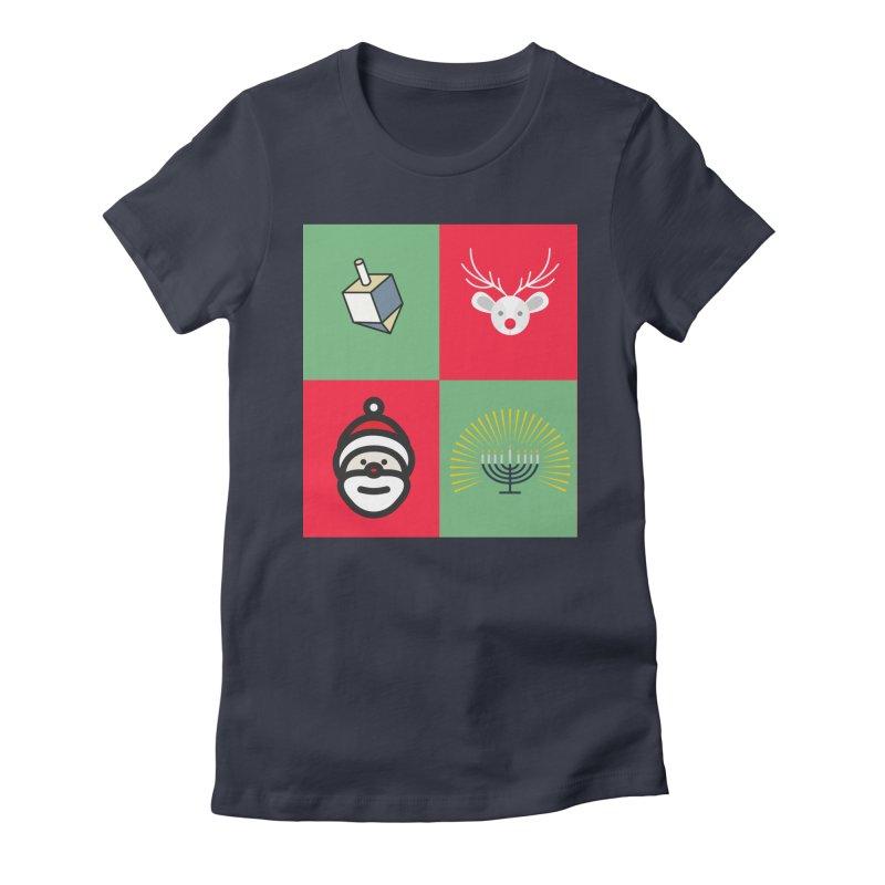chrismukkah Women's Fitted T-Shirt by chrismukkah's Artist Shop