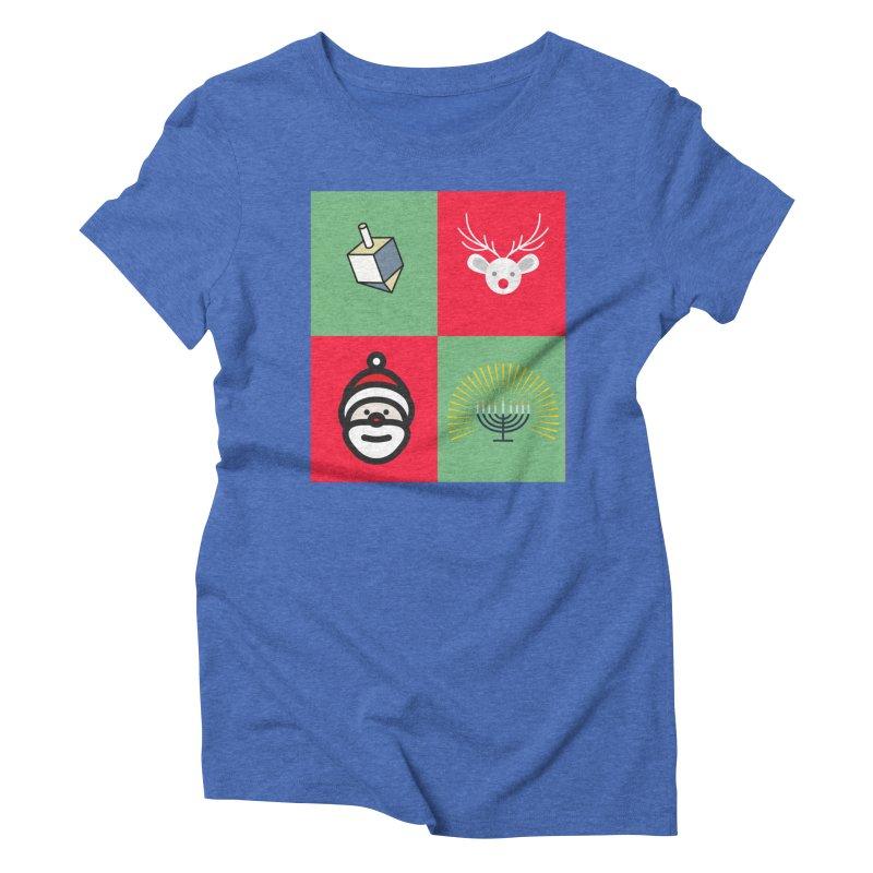 chrismukkah Women's Triblend T-Shirt by chrismukkah's Artist Shop