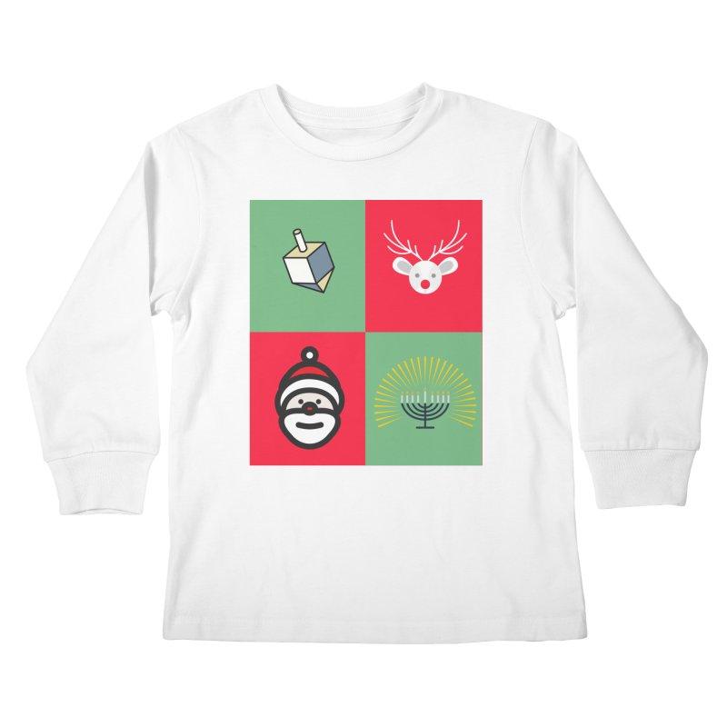 chrismukkah Kids Longsleeve T-Shirt by chrismukkah's Artist Shop