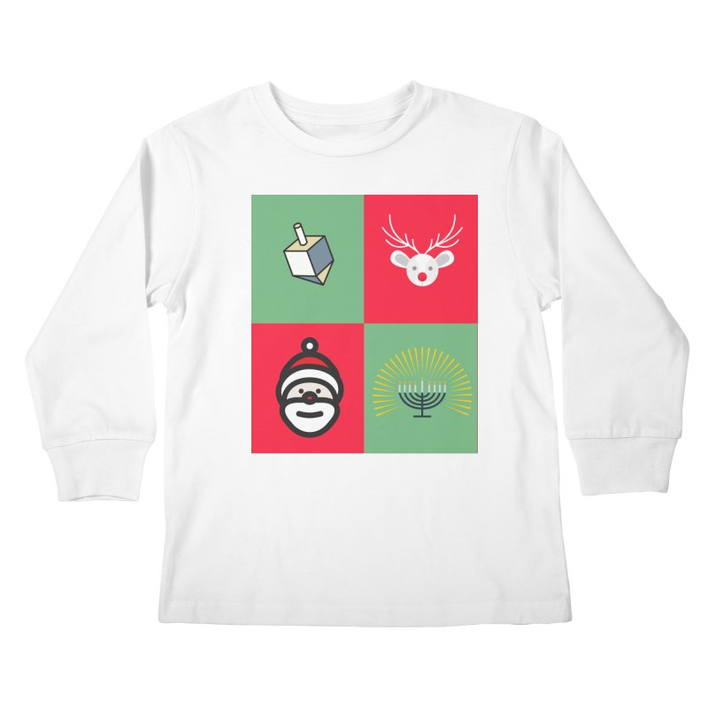 chrismukkah Kids Longsleeve T-Shirt by chrismukkah's Artist Shop