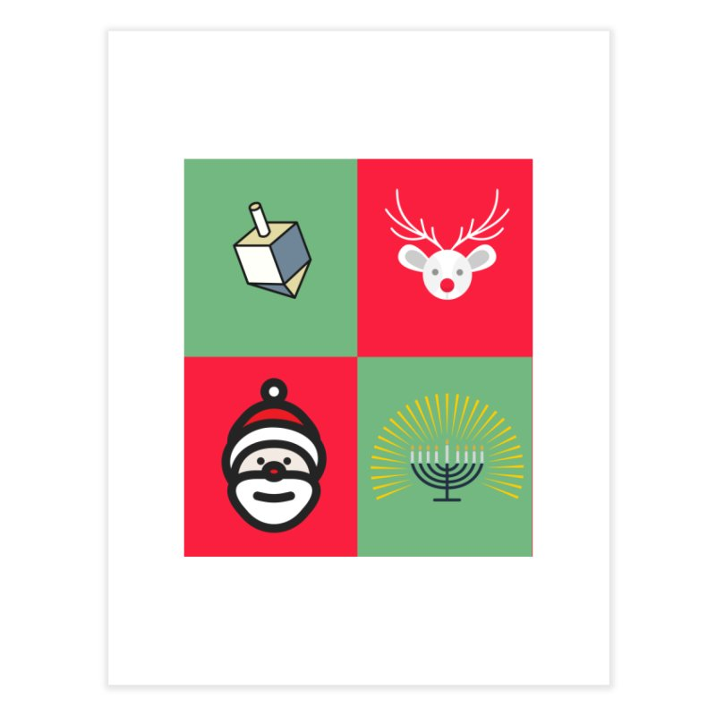 chrismukkah Home Fine Art Print by chrismukkah's Artist Shop
