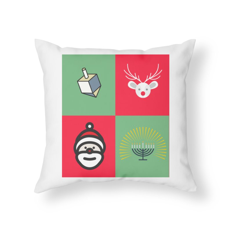 chrismukkah Home Throw Pillow by chrismukkah's Artist Shop