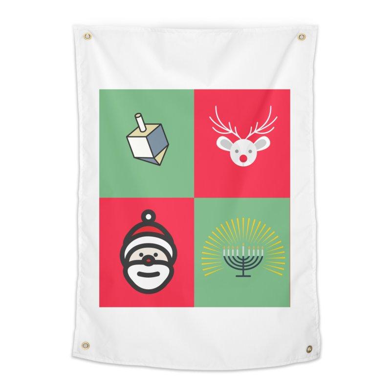 chrismukkah Home Tapestry by chrismukkah's Artist Shop