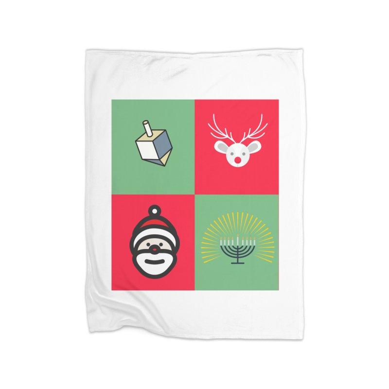 chrismukkah Home Blanket by chrismukkah's Artist Shop