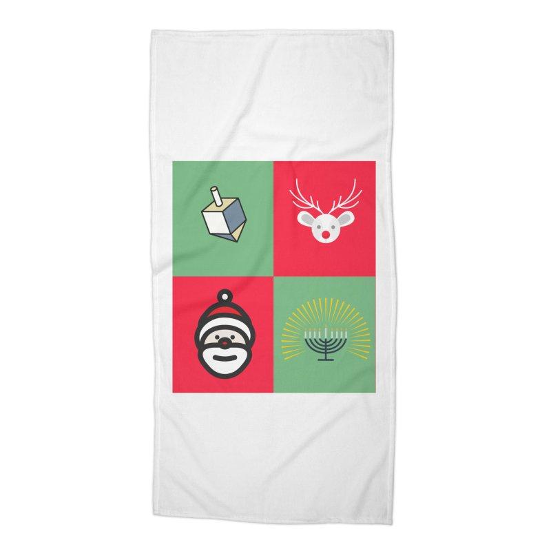 chrismukkah Accessories Beach Towel by chrismukkah's Artist Shop