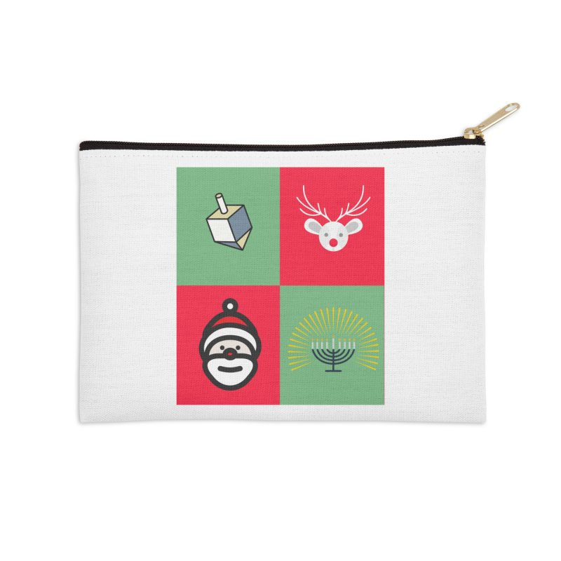 chrismukkah Accessories Zip Pouch by chrismukkah's Artist Shop