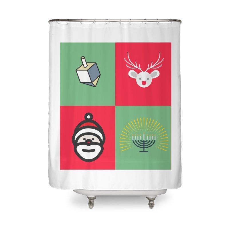 chrismukkah Home Shower Curtain by chrismukkah's Artist Shop