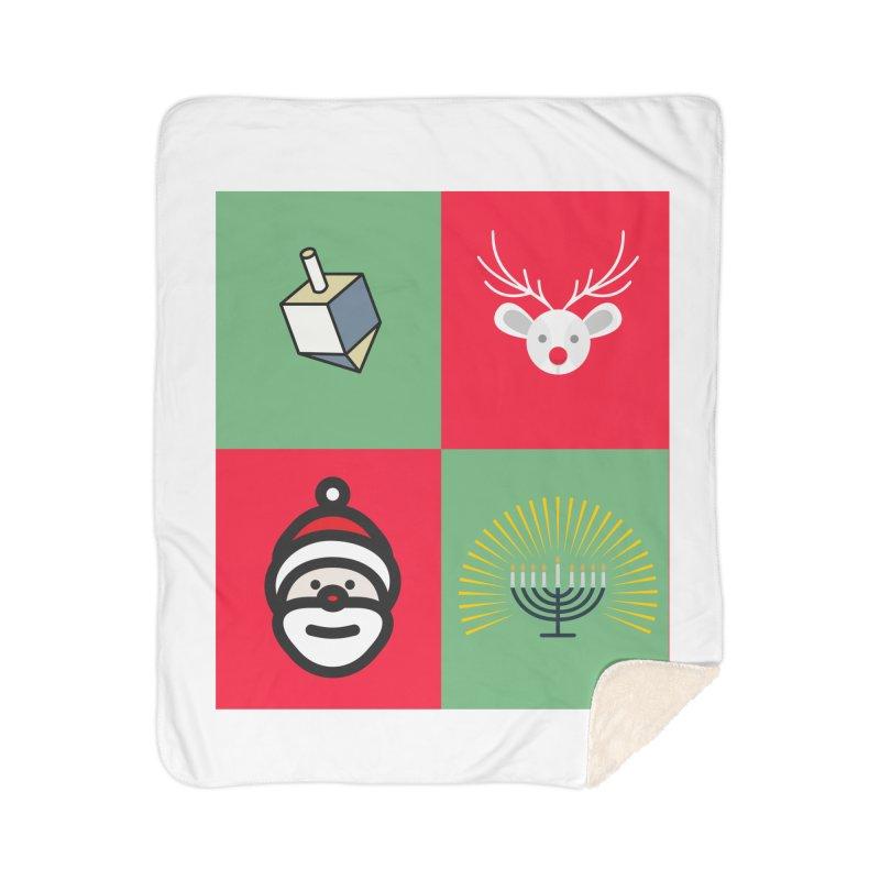 chrismukkah Home Sherpa Blanket Blanket by chrismukkah's Artist Shop