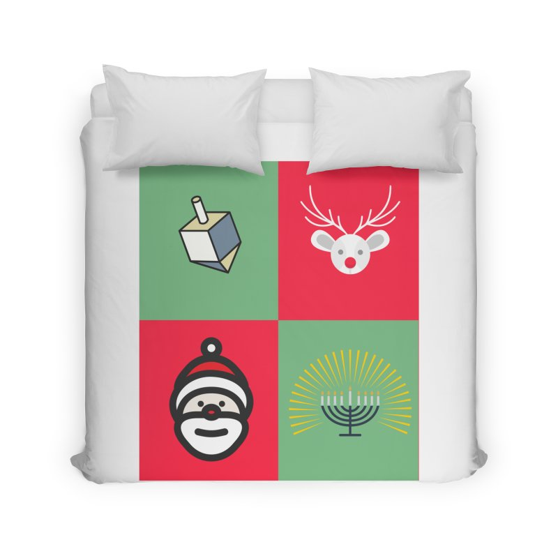 chrismukkah Home Duvet by chrismukkah's Artist Shop