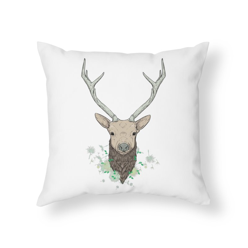 Spring Dear in Throw Pillow by ChrisPatersonCanDraw's Artist Shop