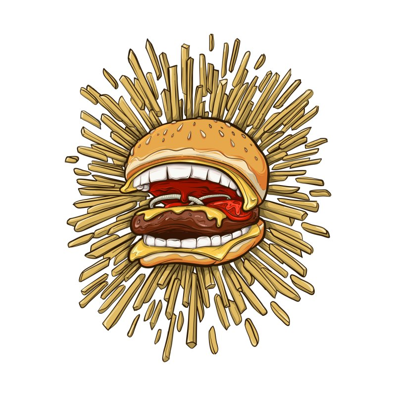 Killer Fast Food - Burgers Bite Back by ChrisPatersonCanDraw's Artist Shop