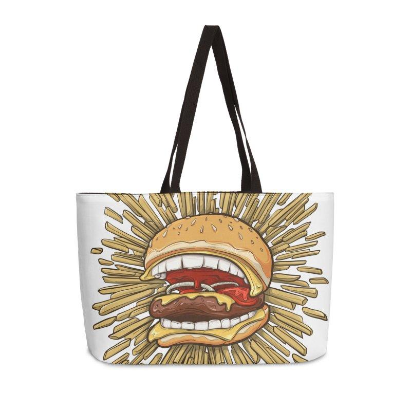 Burgers Bite Back in Weekender Bag by ChrisPatersonCanDraw's Artist Shop