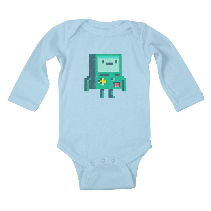 Pixel boy Kids Baby Longsleeve Bodysuit by chrissayer's Artist Shop
