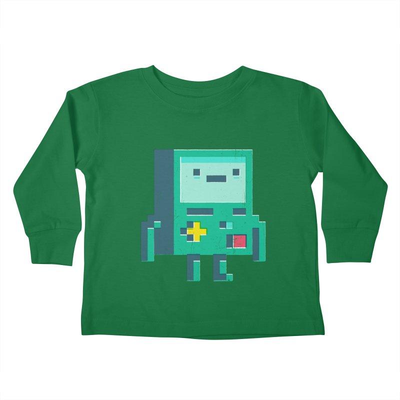 Pixel boy Kids Toddler Longsleeve T-Shirt by chrissayer's Artist Shop