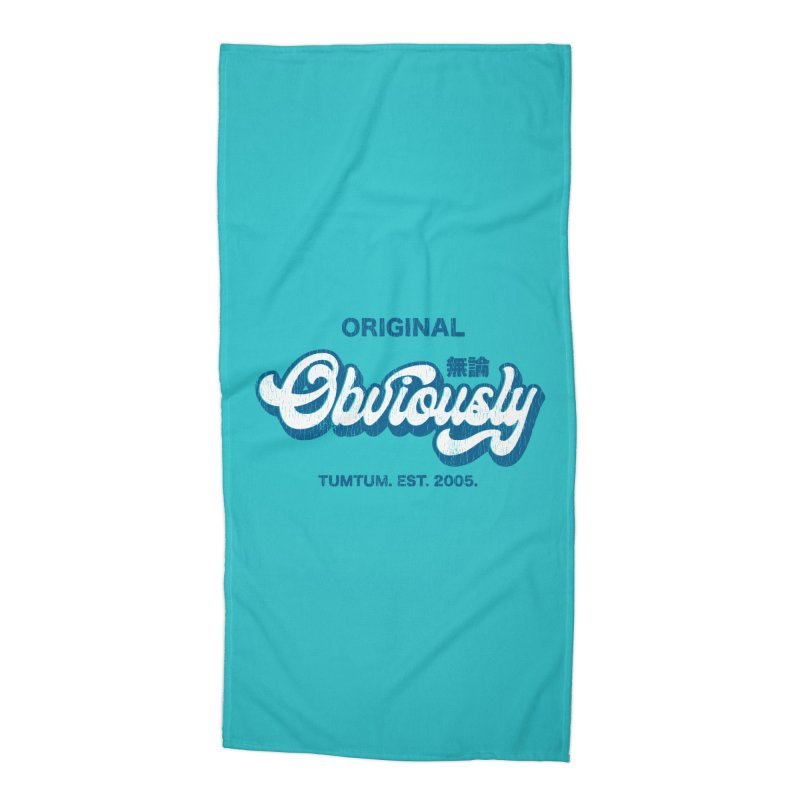 Vintage Obviously Accessories Beach Towel by chrissayer's Artist Shop
