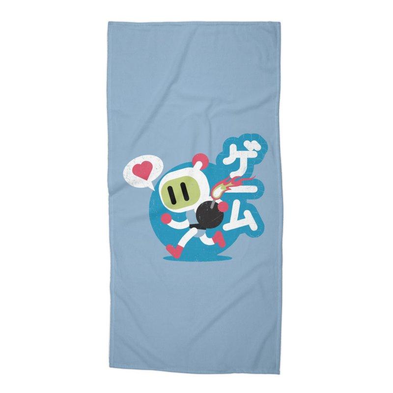 Video Game Love Accessories Beach Towel by chrissayer's Artist Shop