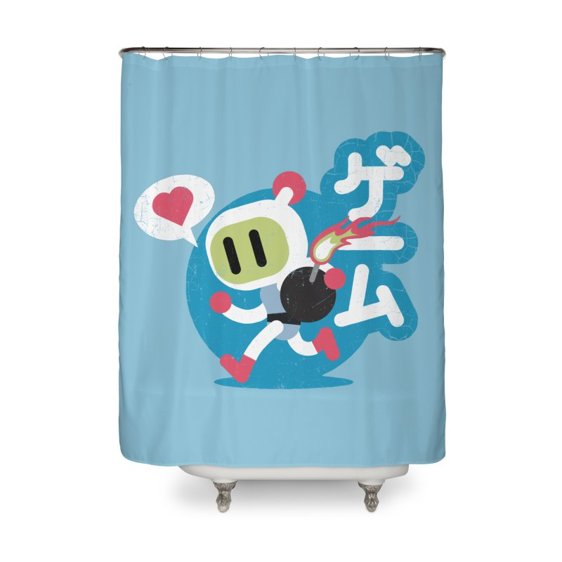 Video Game Love Home Shower Curtain by chrissayer's Artist Shop