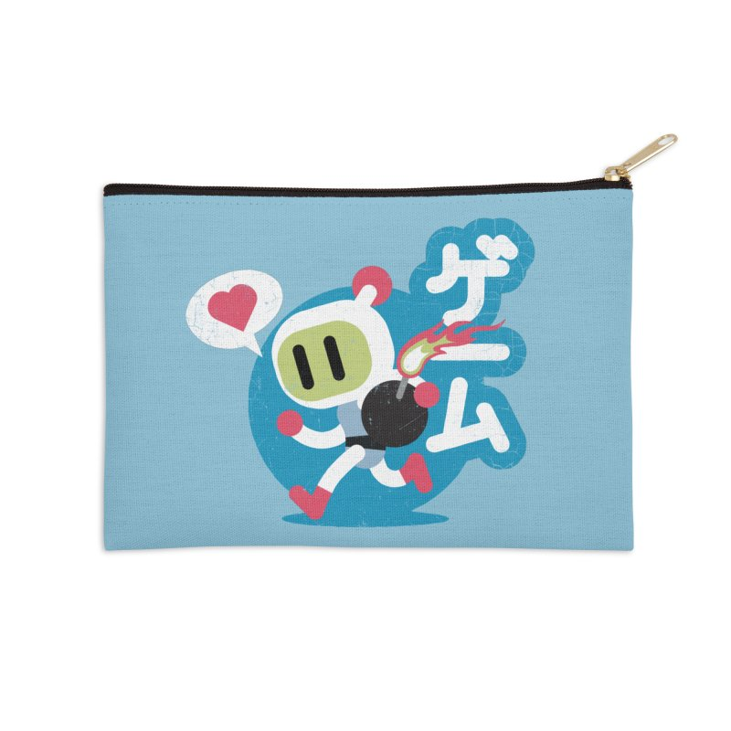 Video Game Love Accessories Zip Pouch by chrissayer's Artist Shop