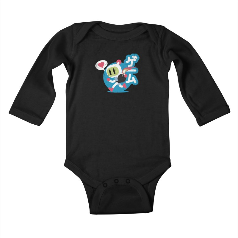 Video Game Love Kids Baby Longsleeve Bodysuit by chrissayer's Artist Shop