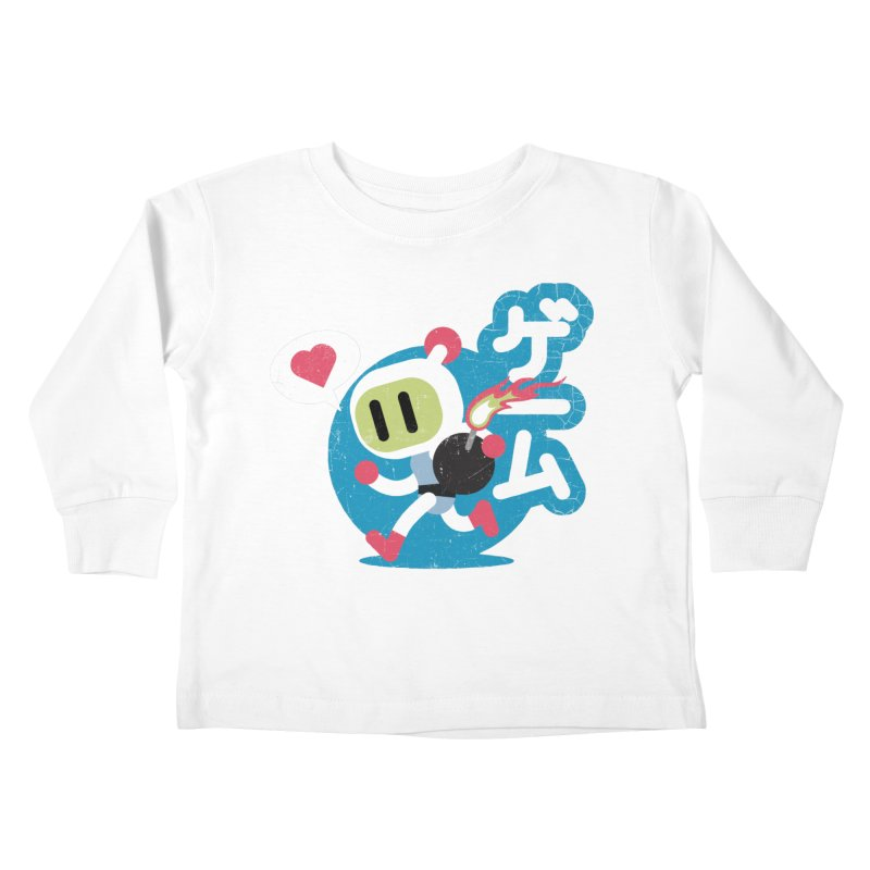 Video Game Love Kids Toddler Longsleeve T-Shirt by chrissayer's Artist Shop