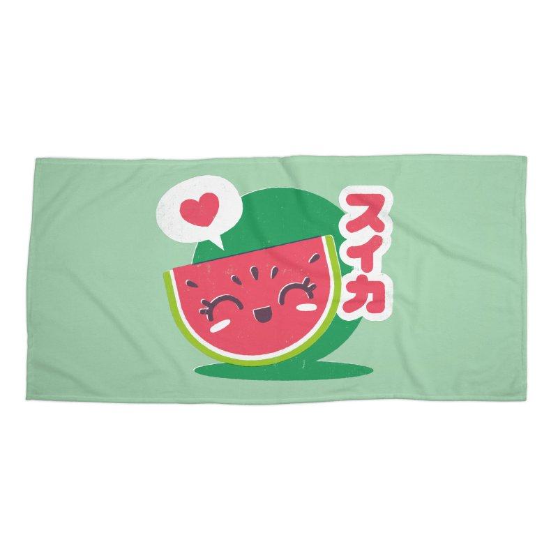 Watermelon Love Accessories Beach Towel by chrissayer's Artist Shop