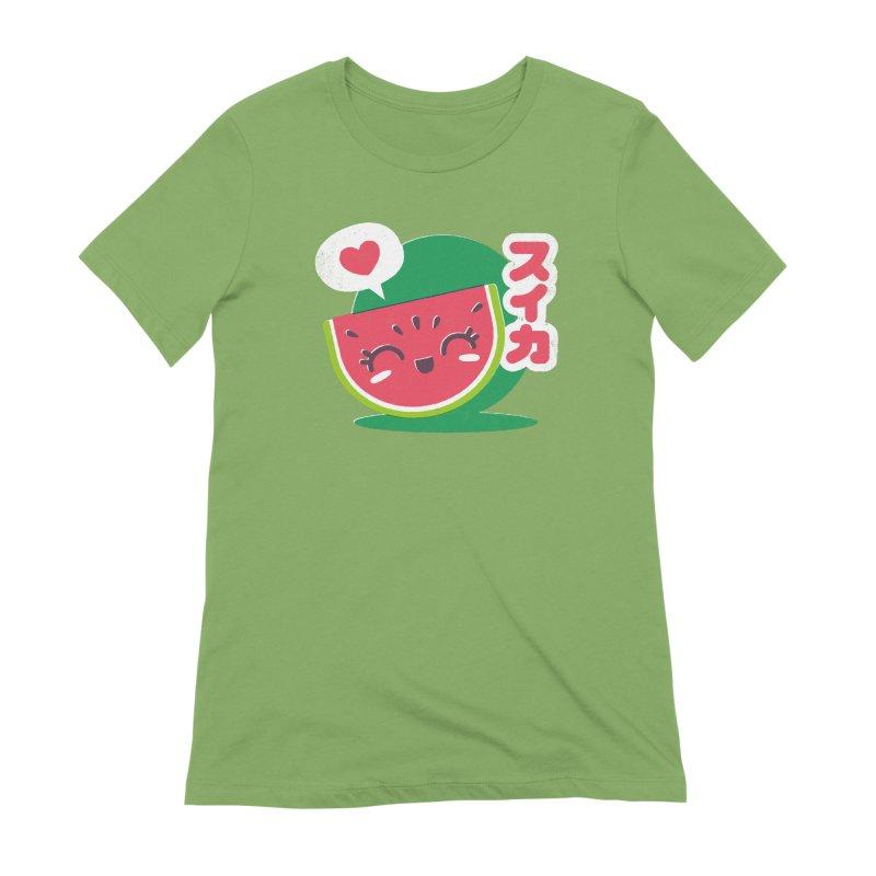 Watermelon Love Women's Extra Soft T-Shirt by chrissayer's Artist Shop