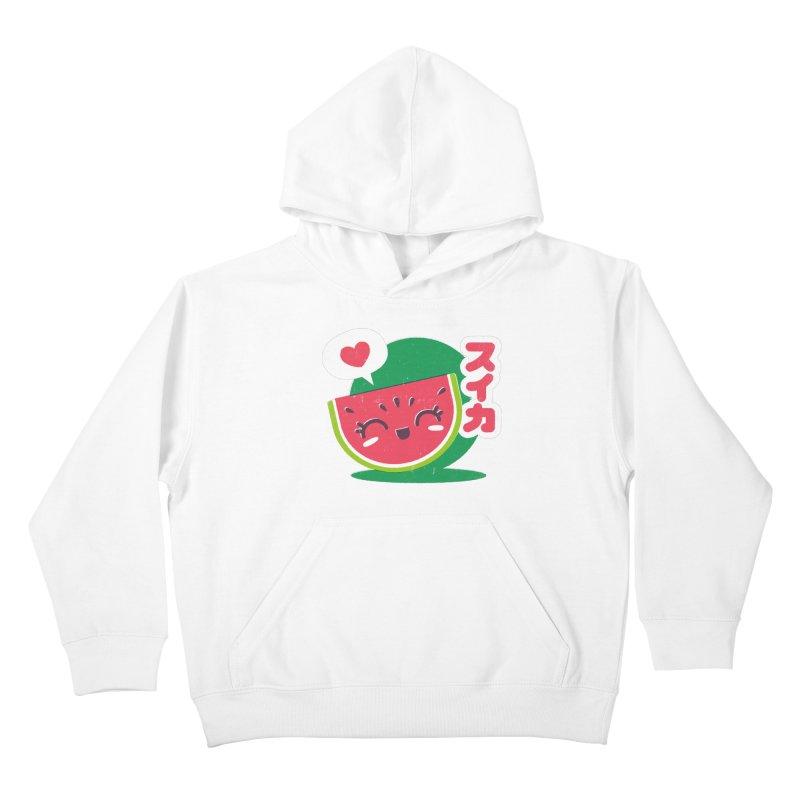 Watermelon Love Kids Pullover Hoody by chrissayer's Artist Shop