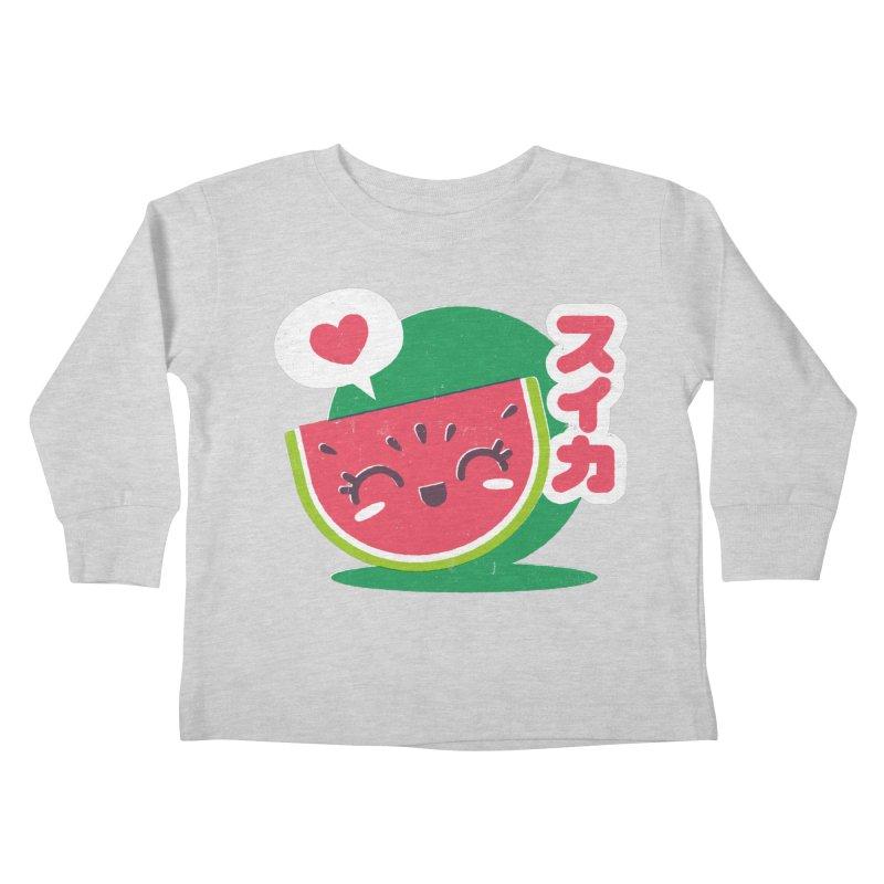 Watermelon Love Kids Toddler Longsleeve T-Shirt by chrissayer's Artist Shop