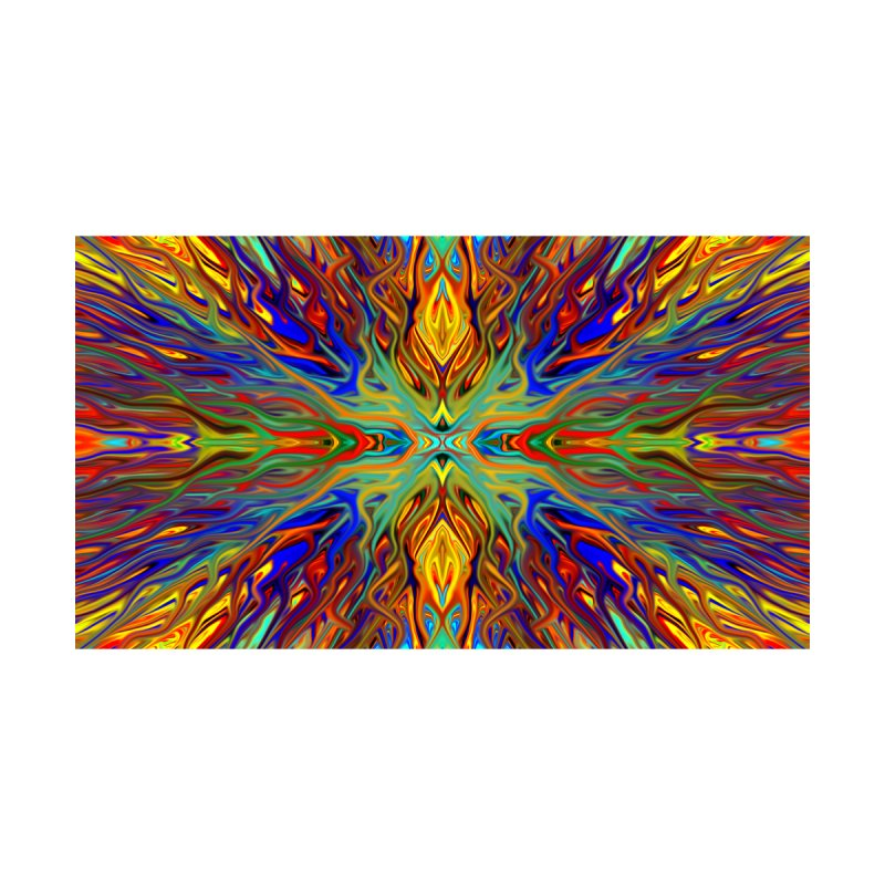 Fiesta Firegrass Quad 1 by Chris Sparks Home Mounted Acrylic Print by Chris Sparks' Abstract Art Shop