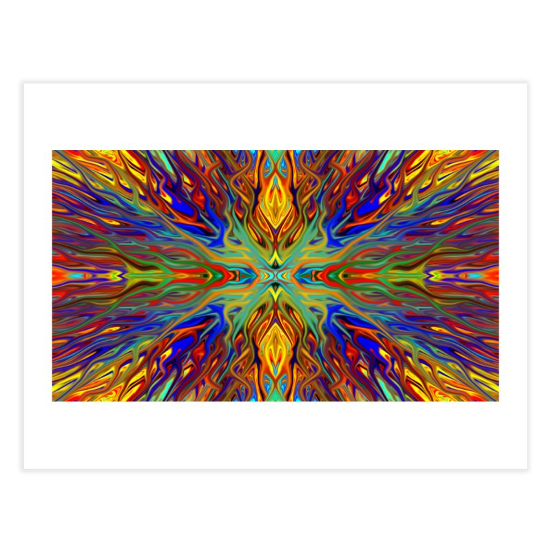 Fiesta Firegrass Quad 1 by Chris Sparks Home Fine Art Print by Chris Sparks' Abstract Art Shop