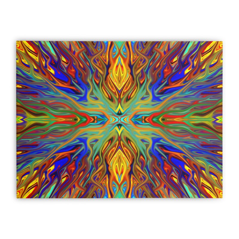 Fiesta Firegrass Quad 1 by Chris Sparks Home Stretched Canvas by Chris Sparks' Abstract Art Shop