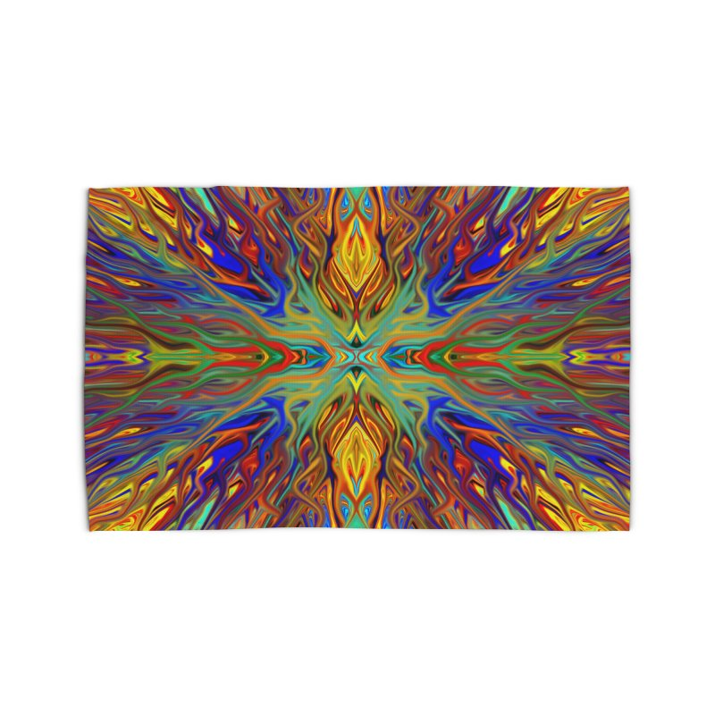 Fiesta Firegrass Quad 1 by Chris Sparks Home Rug by Chris Sparks' Abstract Art Shop