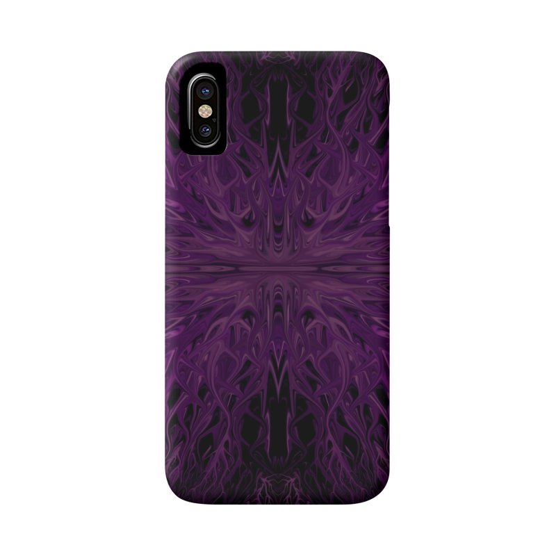 Dark Purple Firegrass Quad 1 by Chris Sparks Accessories Phone Case by Chris Sparks' Abstract Art Shop
