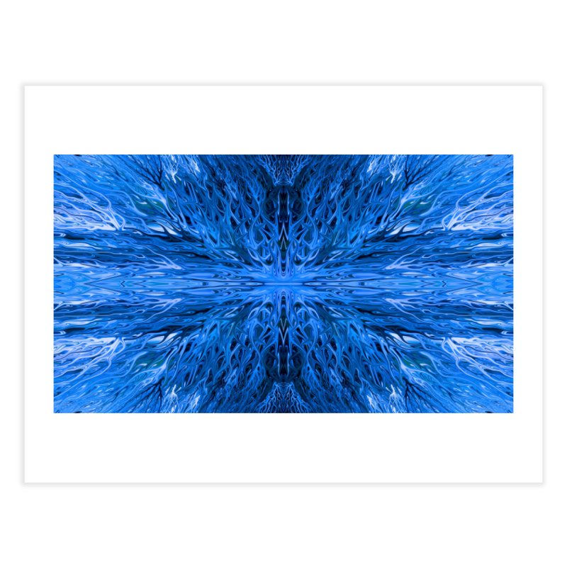 Deep Blue Ocean Firegrass Quad 1 by Chris Sparks Home Fine Art Print by Chris Sparks' Abstract Art Shop