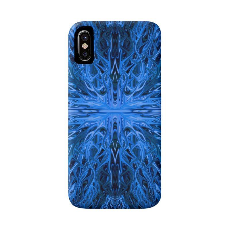 Deep Blue Ocean Firegrass Quad 1 by Chris Sparks Accessories Phone Case by Chris Sparks' Abstract Art Shop