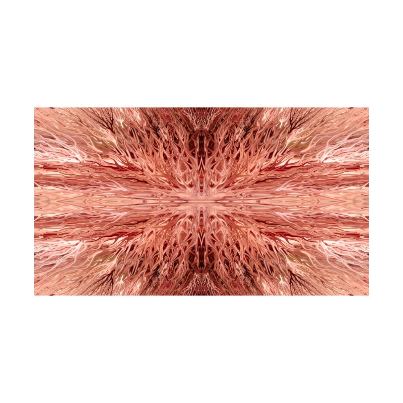 Pomegranate Firegrass Quad 1 by Chris Sparks by Chris Sparks' Abstract Art Shop