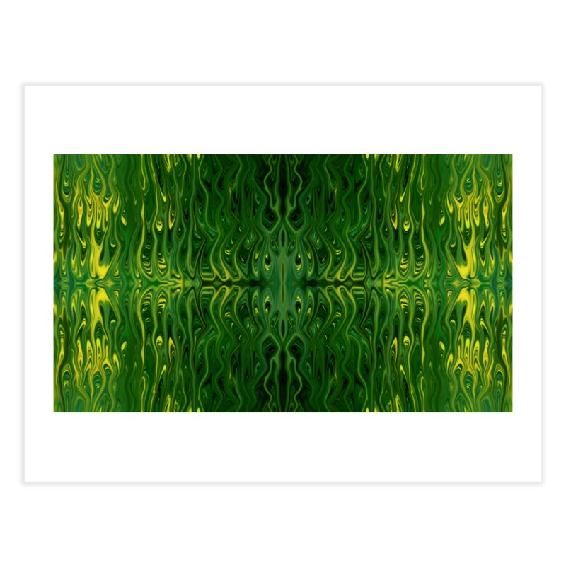 Corn Field Squid by Chris Sparks Home Fine Art Print by Chris Sparks' Abstract Art Shop