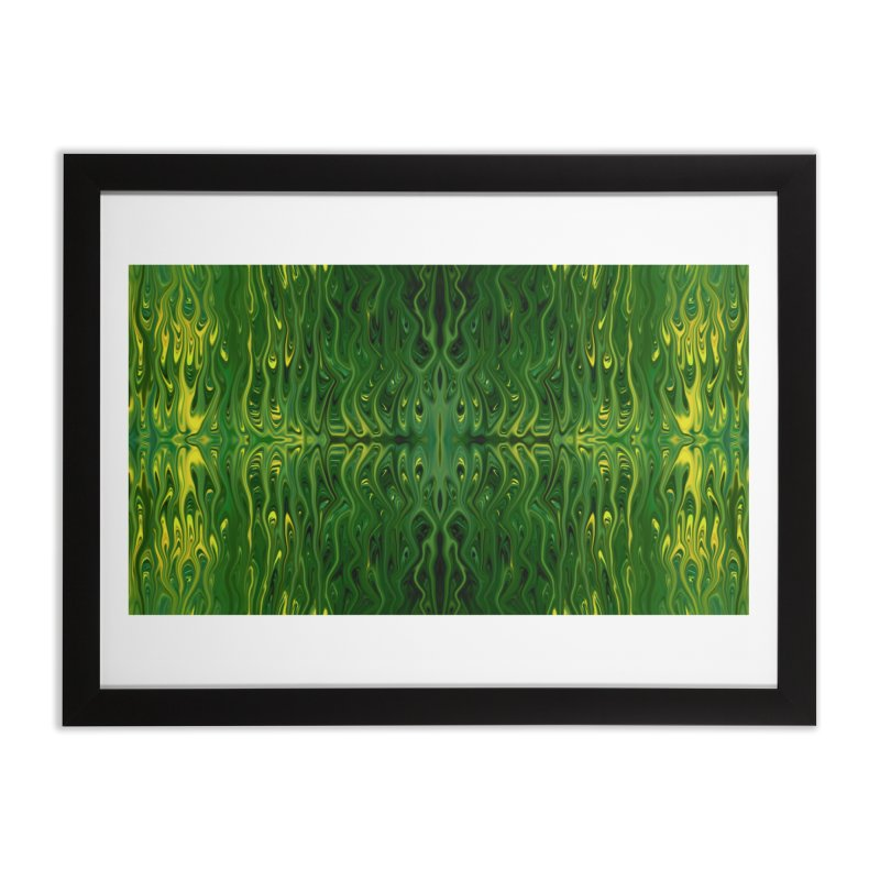 Corn Field Squid by Chris Sparks Home Framed Fine Art Print by Chris Sparks' Abstract Art Shop