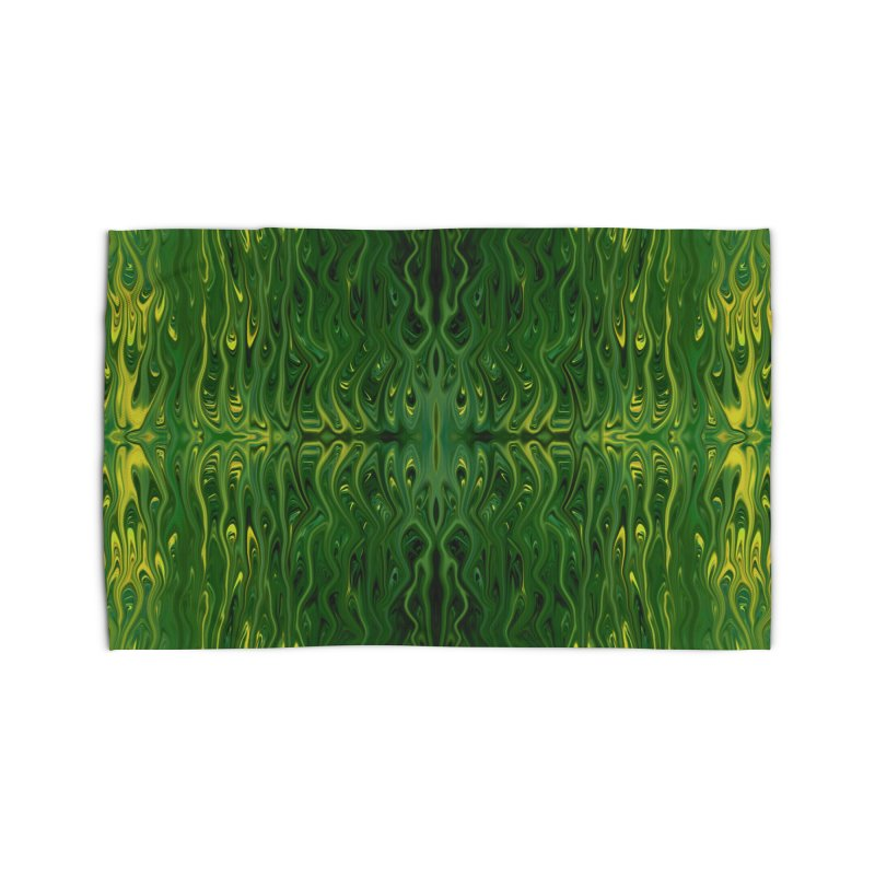 Corn Field Squid by Chris Sparks Home Rug by Chris Sparks' Abstract Art Shop