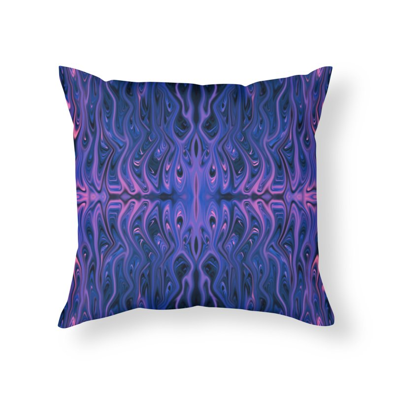 Bubblegum Squid by Chris Sparks Home Throw Pillow by Chris Sparks' Abstract Art Shop