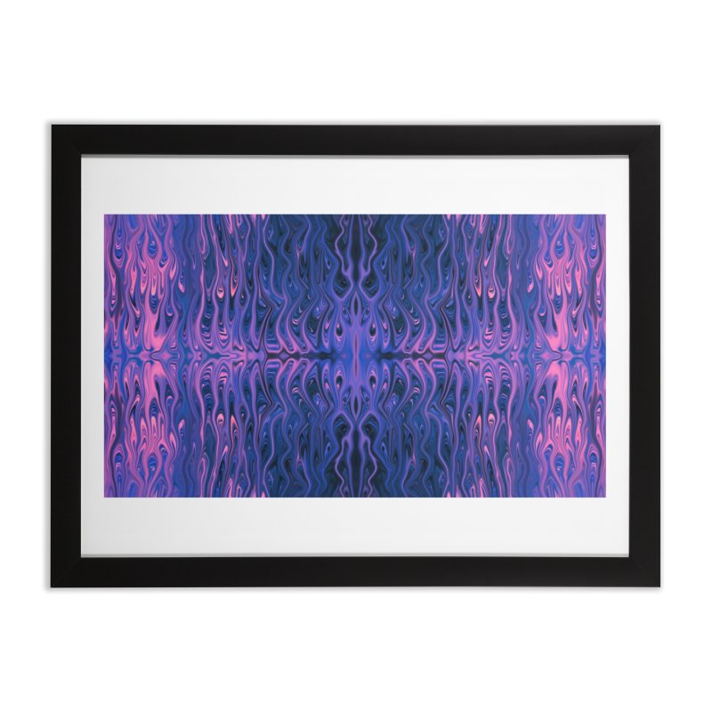 Bubblegum Squid by Chris Sparks Home Framed Fine Art Print by Chris Sparks' Abstract Art Shop