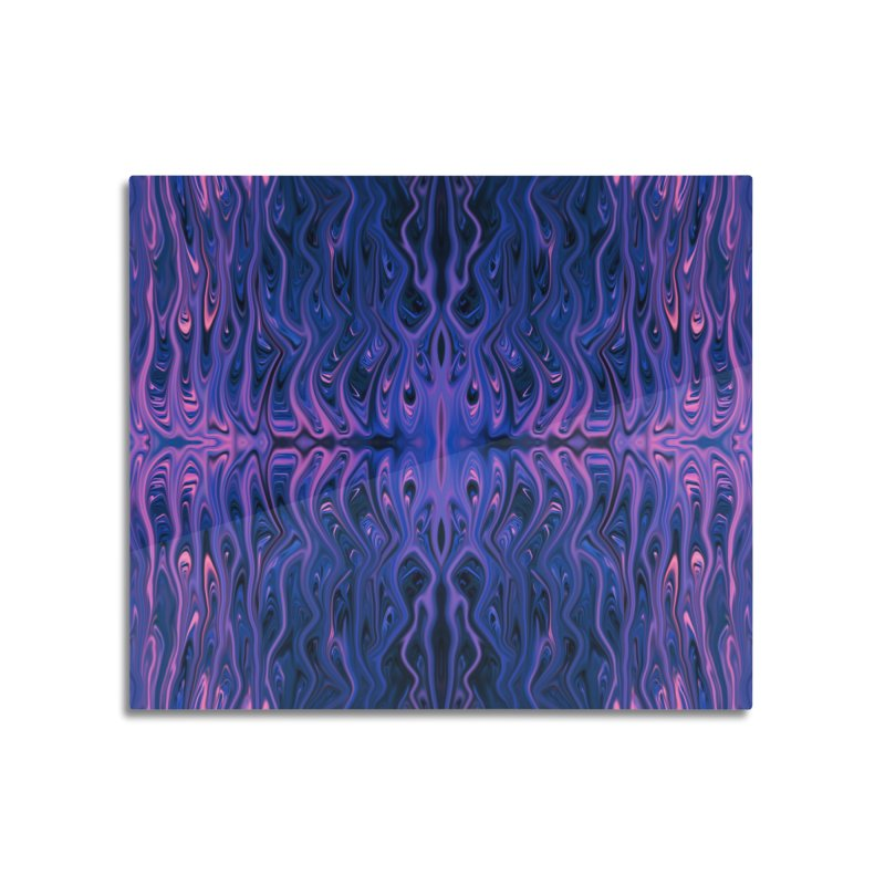 Bubblegum Squid by Chris Sparks Home Mounted Acrylic Print by Chris Sparks' Abstract Art Shop