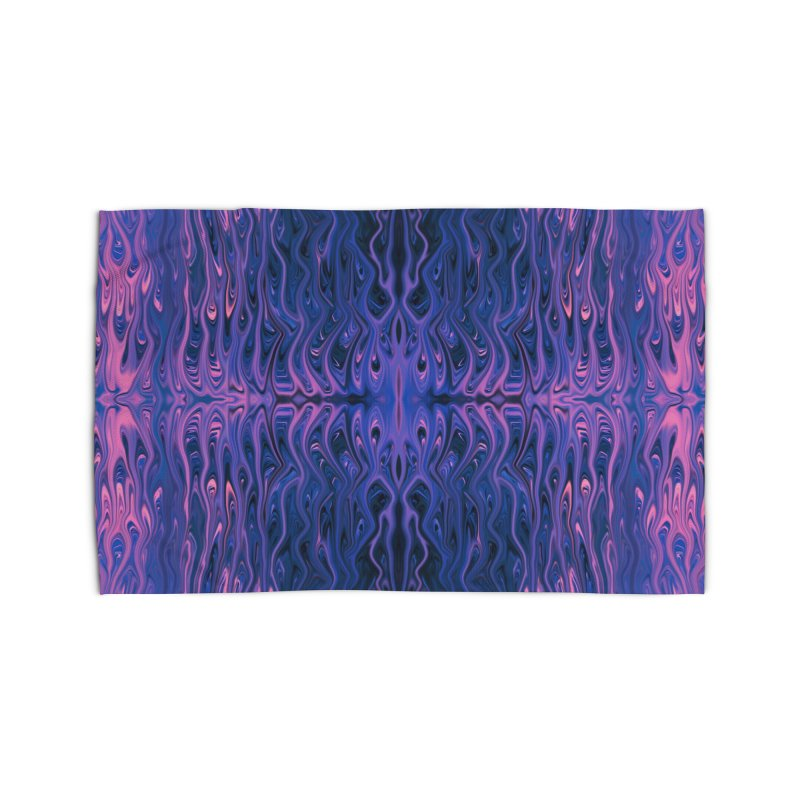 Bubblegum Squid by Chris Sparks Home Rug by Chris Sparks' Abstract Art Shop