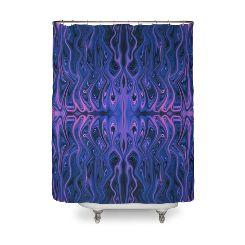 Bubblegum Squid by Chris Sparks Home Shower Curtain by Chris Sparks' Abstract Art Shop