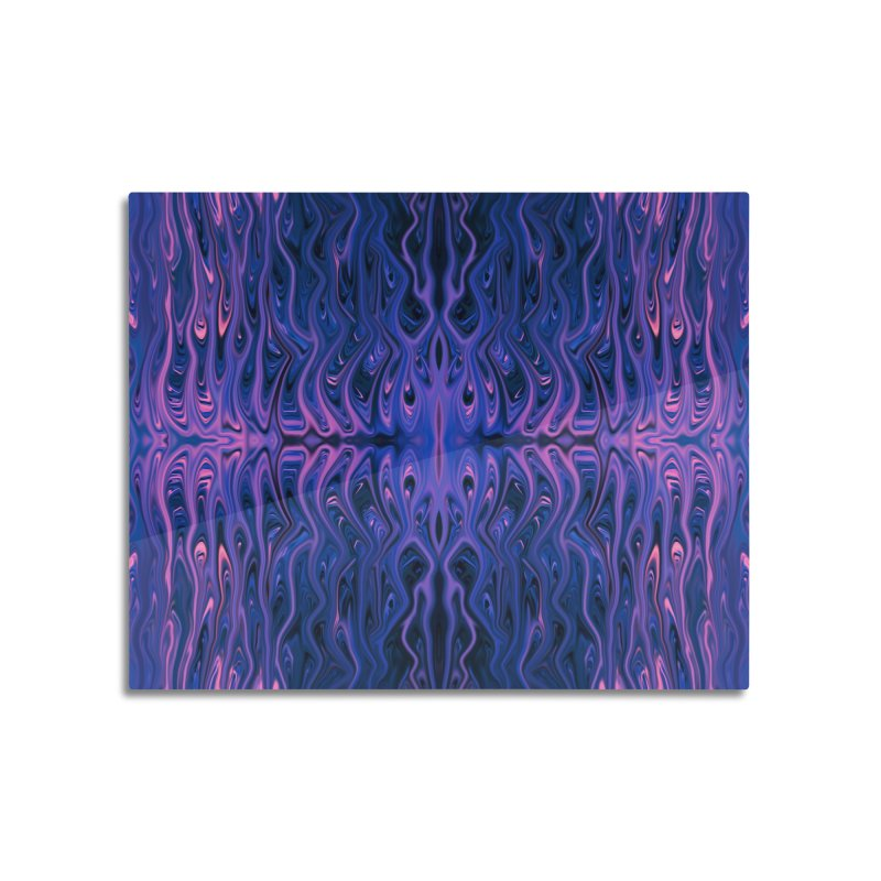 Bubblegum Squid by Chris Sparks Home Mounted Aluminum Print by Chris Sparks' Abstract Art Shop