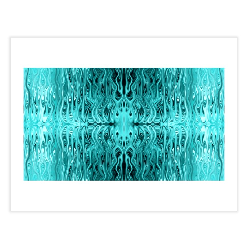 Aqua Squid by Chris Sparks Home Fine Art Print by Chris Sparks' Abstract Art Shop