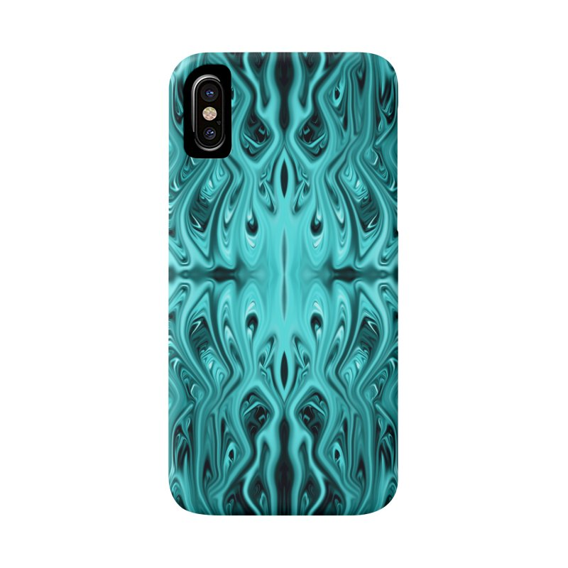 Aqua Squid by Chris Sparks Accessories Phone Case by Chris Sparks' Abstract Art Shop